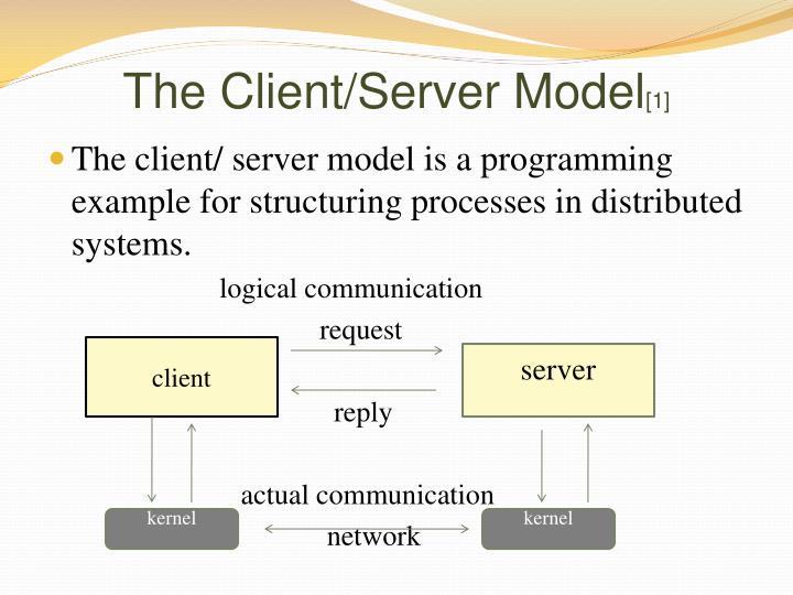 The Client/Server Model