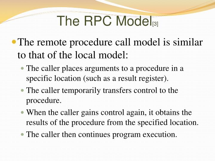 The RPC Model