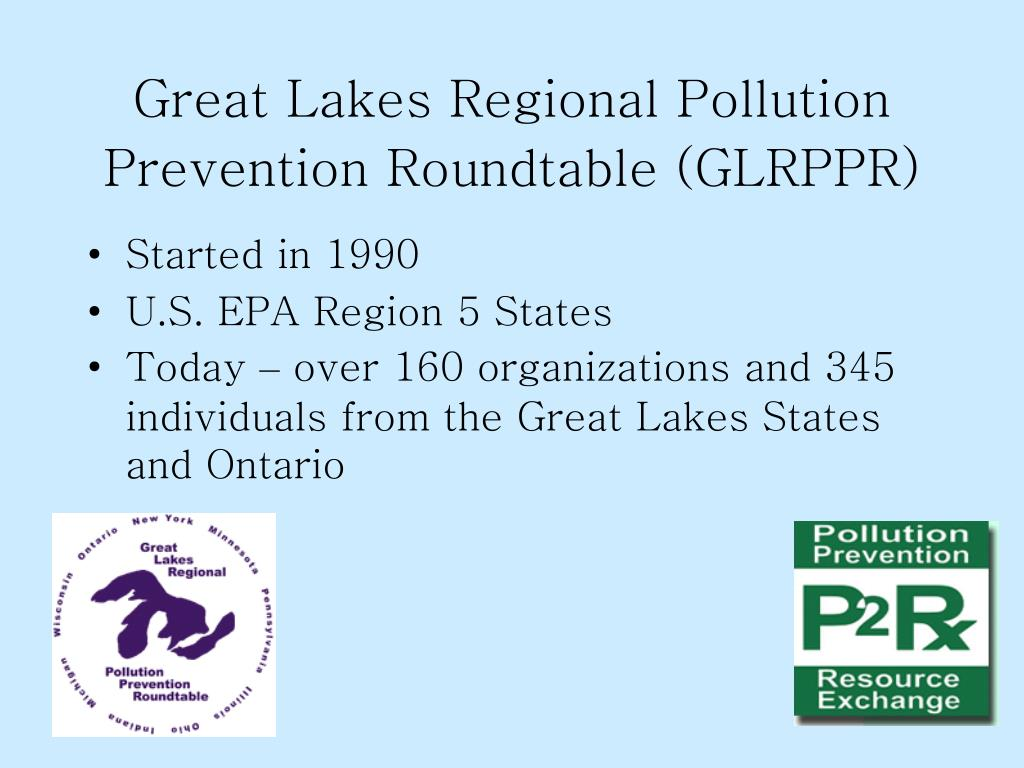 Great Lakes Regional Pollution Prevention Roundtable (GLRPPR)