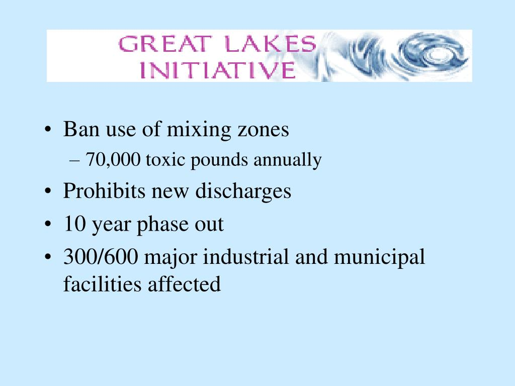 Ban use of mixing zones