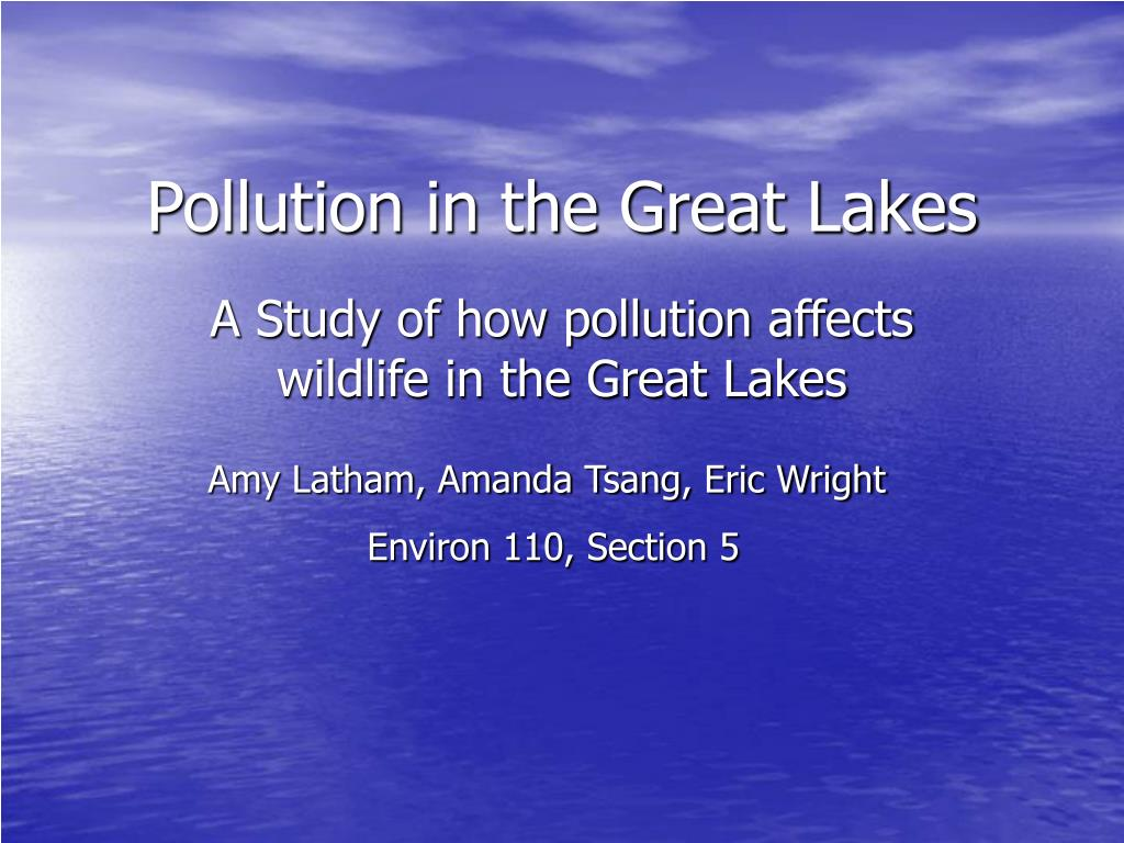 pollution in the great lakes l.