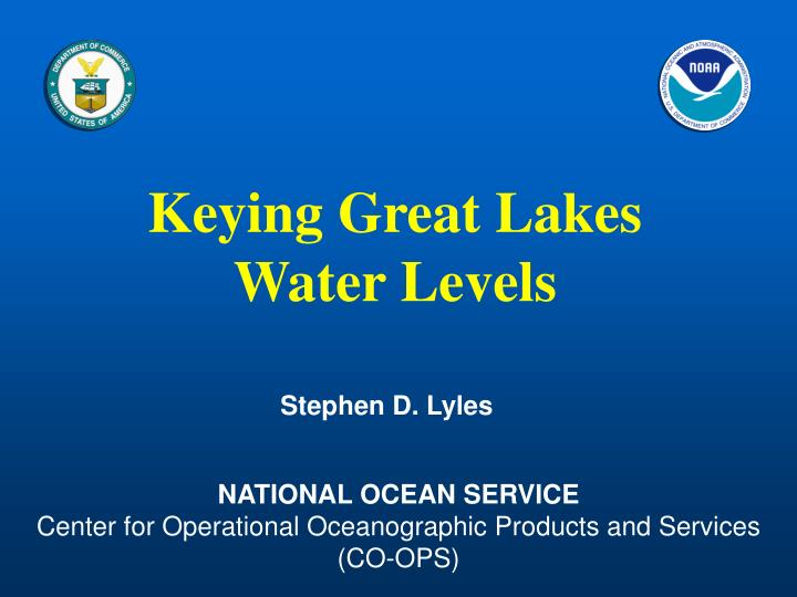 Keying great lakes water levels