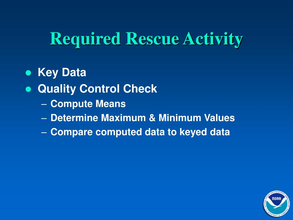 Required Rescue Activity