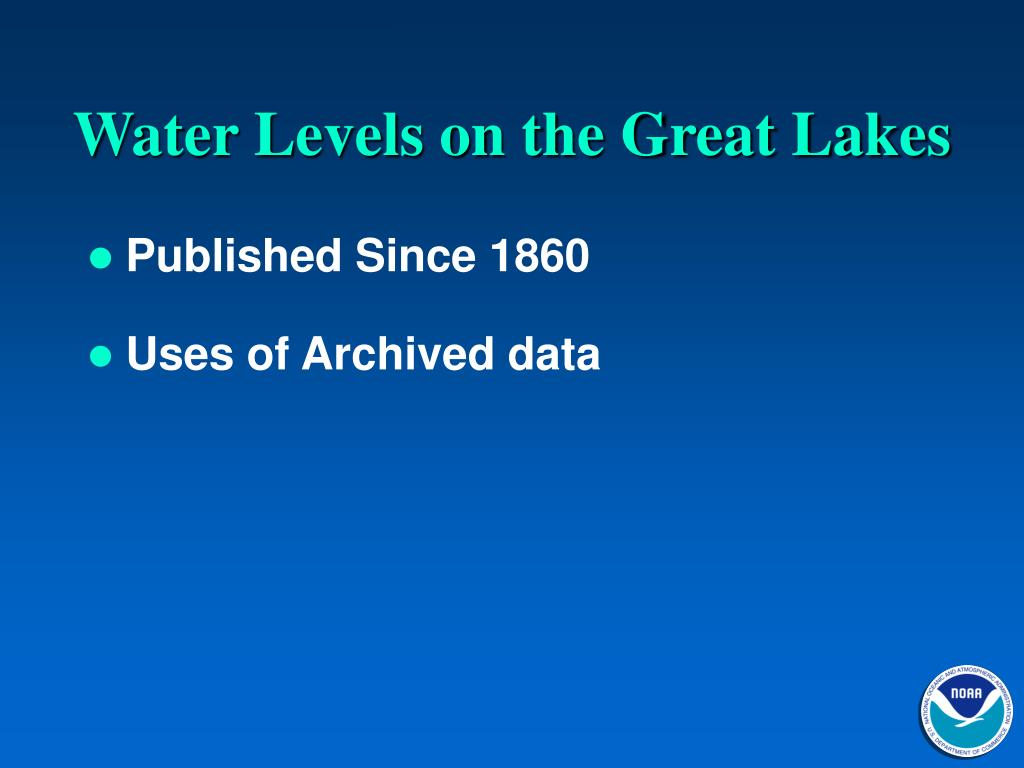 Water Levels on the Great Lakes