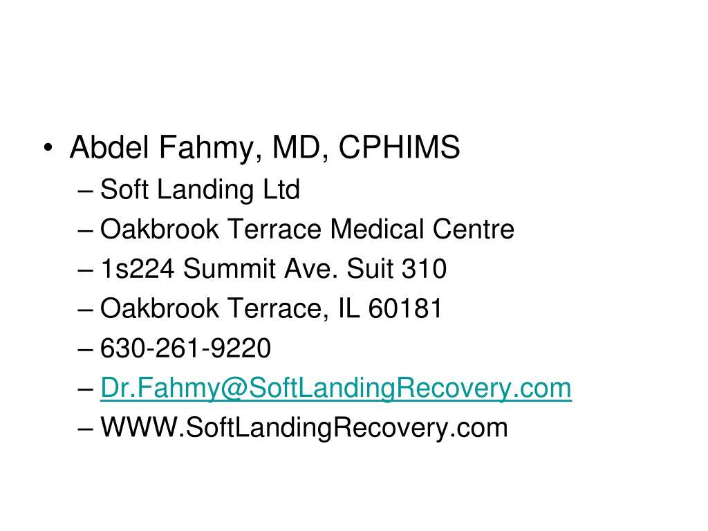 Abdel Fahmy, MD, CPHIMS