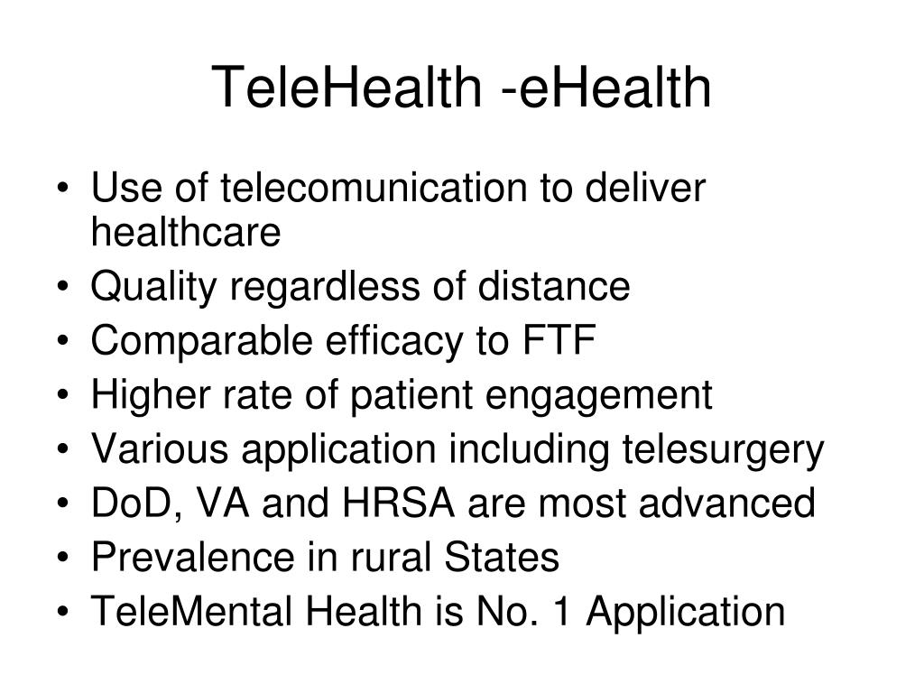 TeleHealth -eHealth