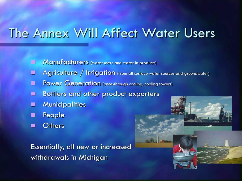 The Annex Will Affect Water Users