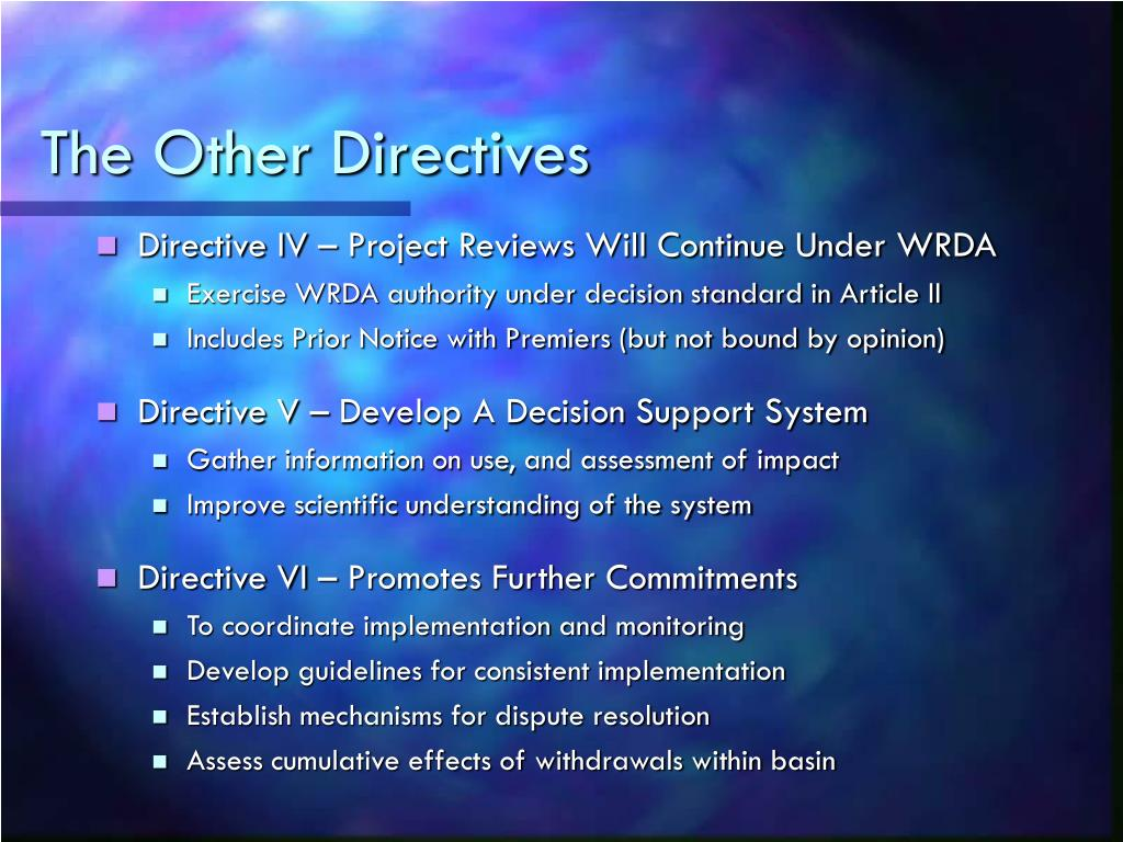 The Other Directives