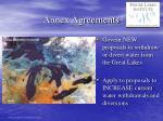 annex agreements