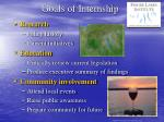 goals of internship
