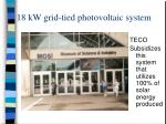 18 kw grid tied photovoltaic system