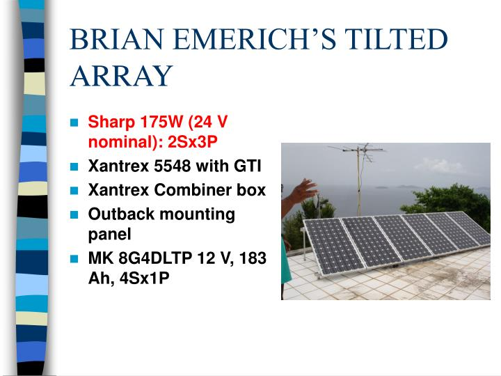 BRIAN EMERICH'S TILTED ARRAY