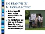 dg team visits st thomas university