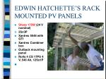 edwin hatchette s rack mounted pv panels