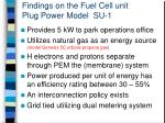 findings on the fuel cell unit plug power model su 11