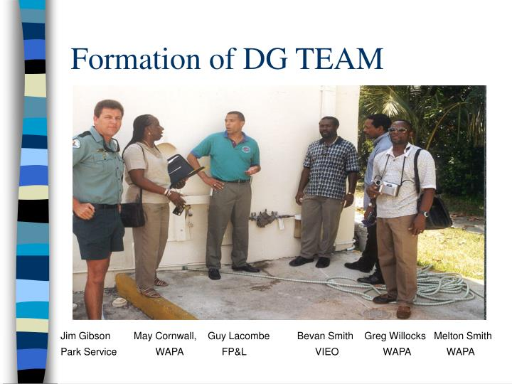 Formation of DG TEAM