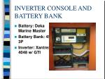 inverter console and battery bank