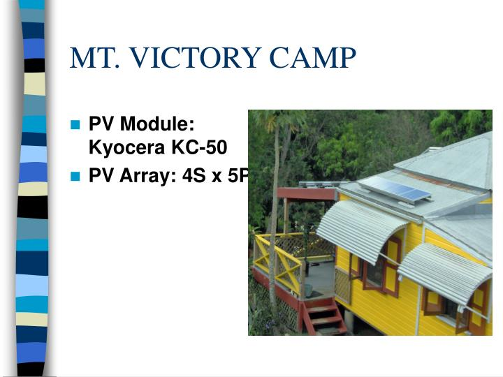 MT. VICTORY CAMP