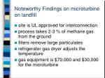 noteworthy findings on microturbine on landfill