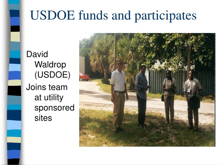 USDOE funds and participates