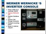 werner wernicke s inverter console