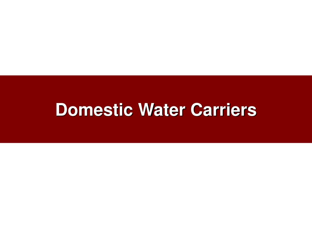 domestic water carriers l.