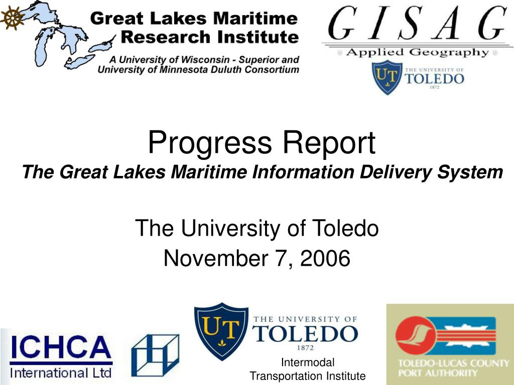 progress report the great lakes maritime information delivery system l.
