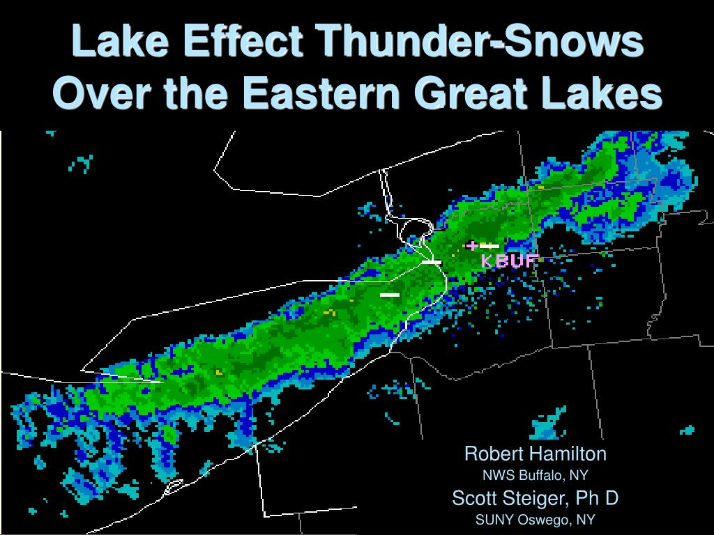 lake effect thunder snows over the eastern great lakes l.