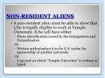 non resident aliens