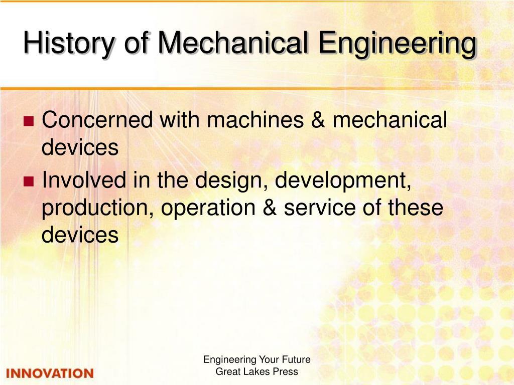 History of Mechanical Engineering