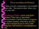 facts needing attribution
