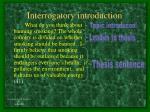 interrogatory introduction