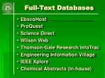 full text databases