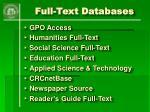 full text databases22
