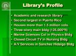 library s profile