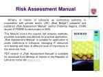 risk assessment manual