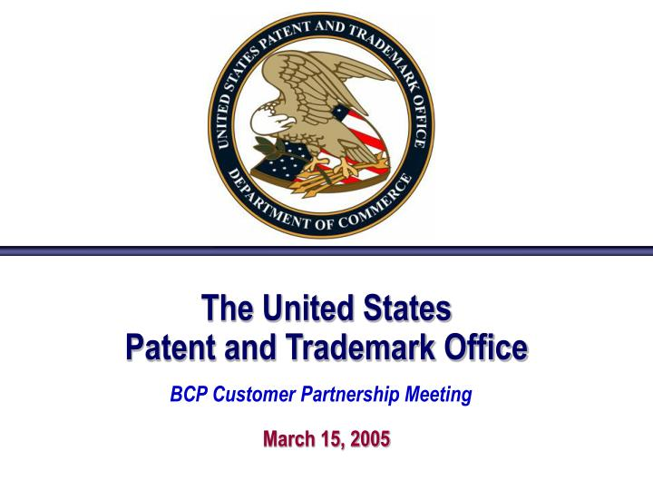 the united states patent and trademark office n.
