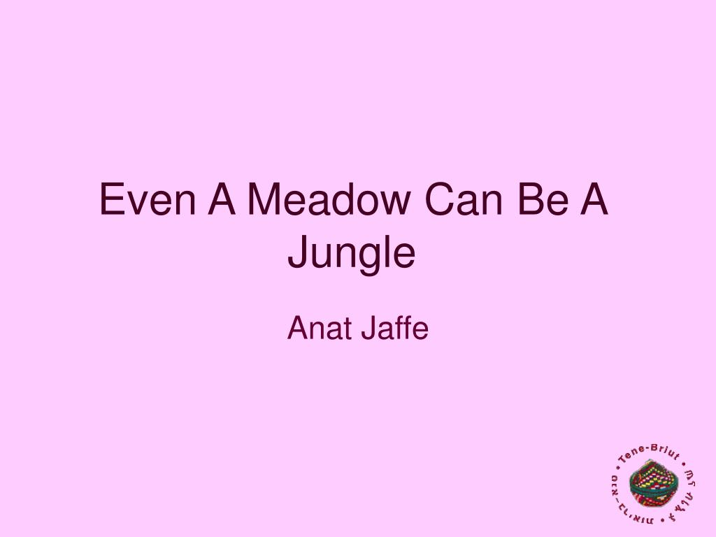 even a meadow can be a jungle l.