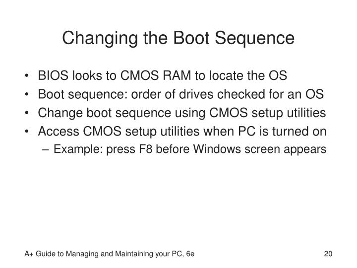 Changing the Boot Sequence