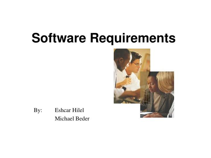 software requirements n.
