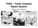 tvrs traffic violation report system