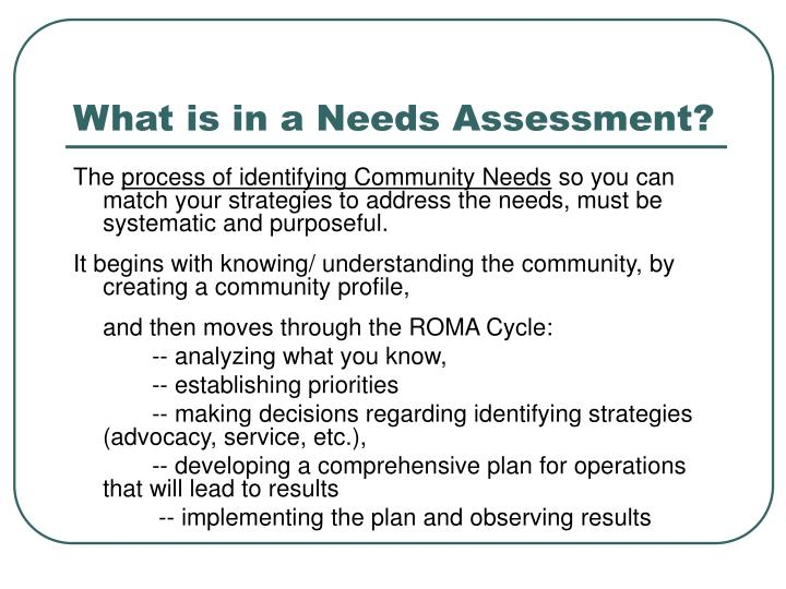 cwallace ehr needs assessment The school has plans to assess resources and needs regularly (every two years or less) the school collects data on student and climate outcomes findings from the resources and needs assessment were shared with stakeholders as a way for them to participate in developing goals for schoolwide sel.