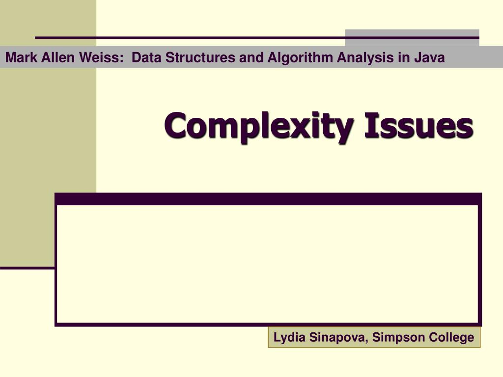 complexity issues n.