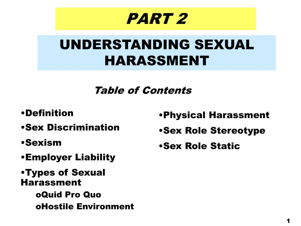 Types of sex discrimination