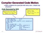 compiler generated code motion