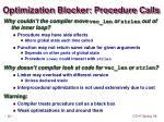 optimization blocker procedure calls