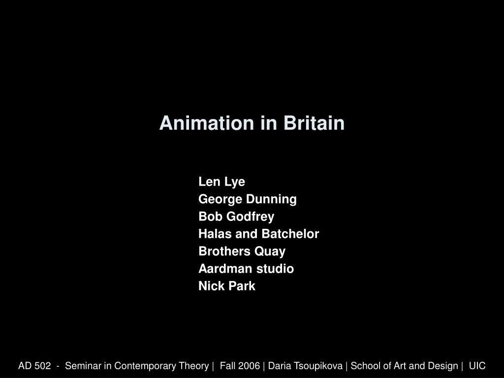 animation in britain l.