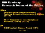 nih roadmap research teams of the future