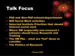 talk focus