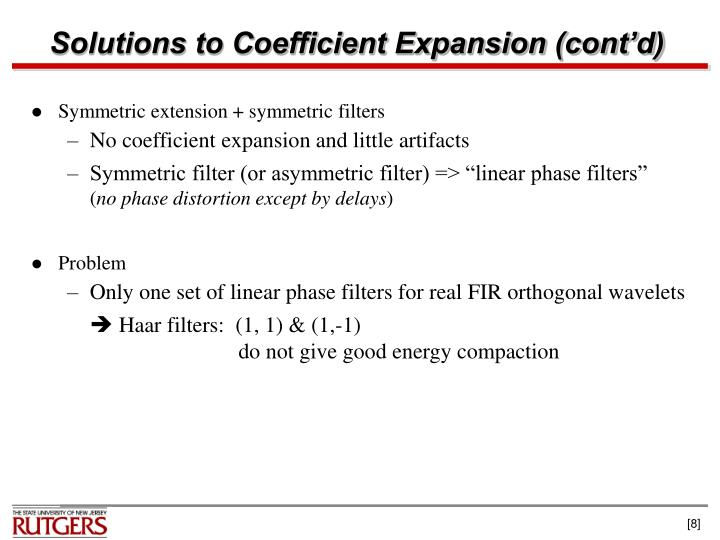 Solutions to Coefficient Expansion (cont'd)